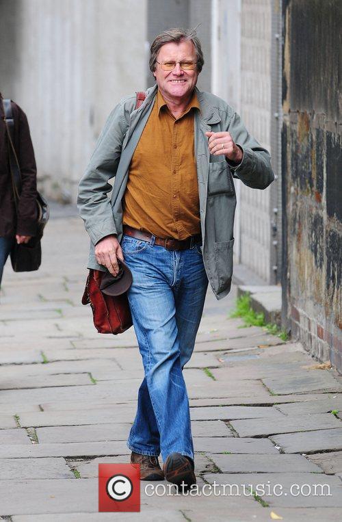 David Neilson arrives at Granada studios to film...