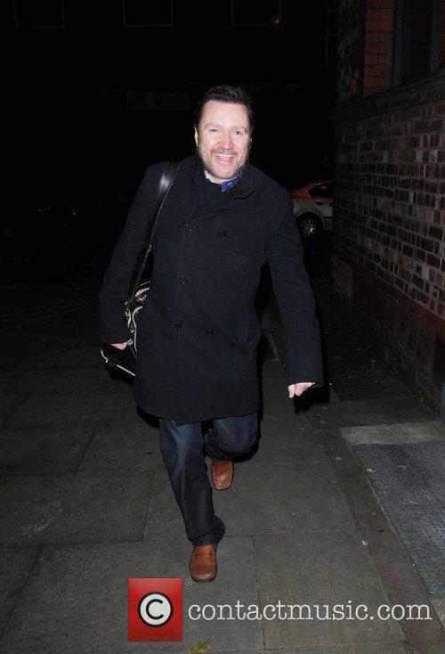 Ian Pulston Davies arrives at Great John Street...