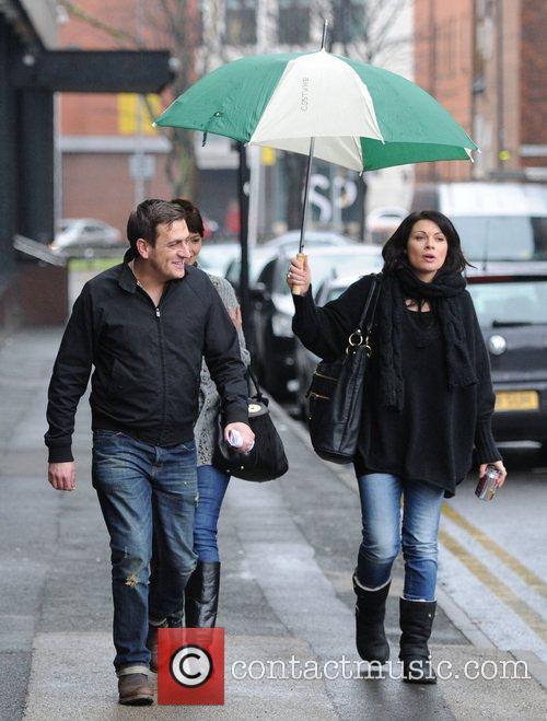 'Coronation Street' stars arrive at the Granada Studios...