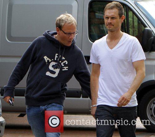 Coronation Street stars leaving the Granada studios. Ben...