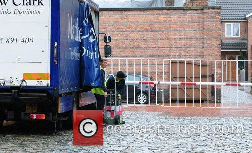 Alcoholic drinks being delivered to the 'Coronation Street'...