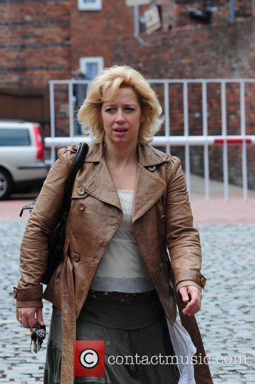 'Coronation Street' stars arriving at the Granada Television...