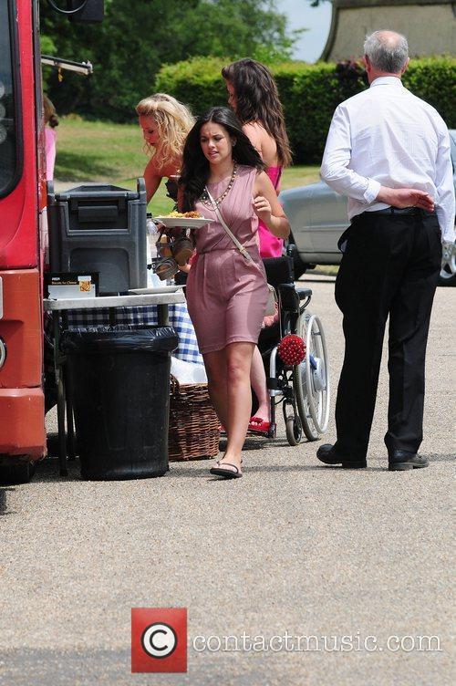 Georgia May Foote  'Coronation Street' Wedding filming...