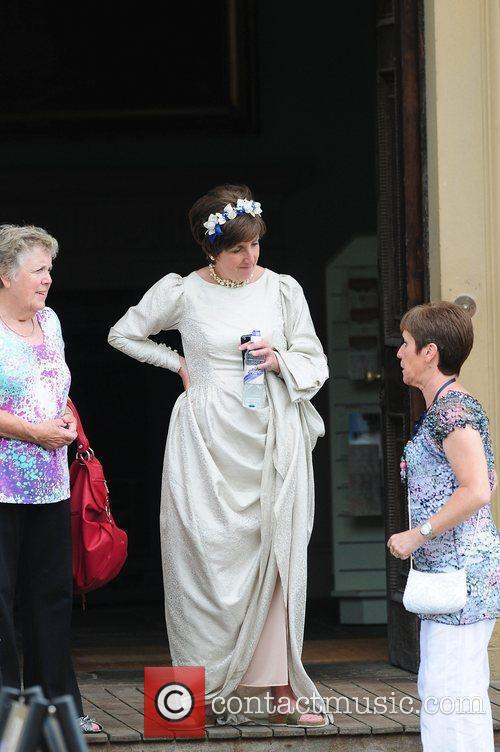 Julie Hesmondalgh 'Coronation Street' Wedding filming on Location....