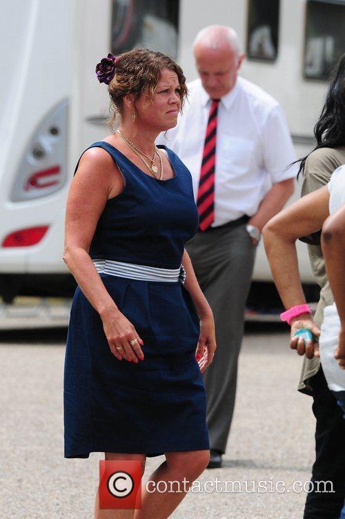 Vicky Entwistle  'Coronation Street' Wedding filming on...
