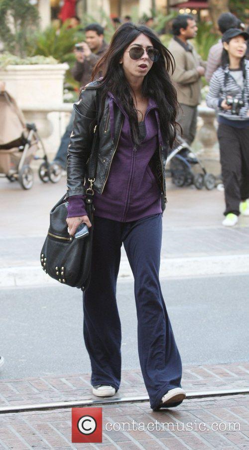 Courtenay Semel is seen heading into a movie...