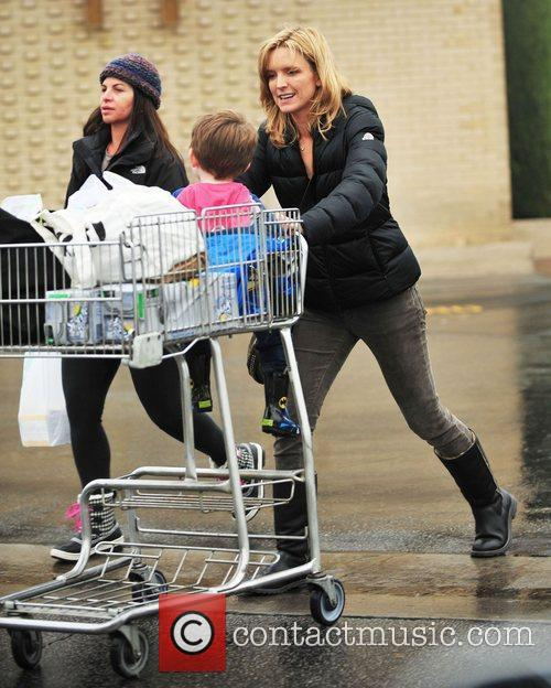 Courtney Thorne-Smith and her son, Jacob, shopping for...