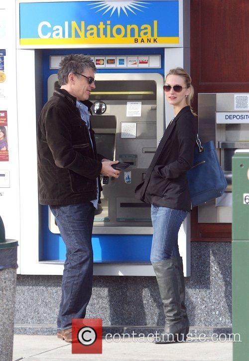Comedian Craig Ferguson  with his wife Megan...