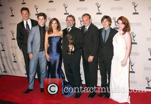Wizards Of Waverly Place Cast With Exec Producer Peter Murrieta 2