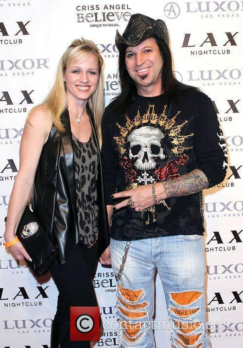 Michael Godard and Guest Criss Angel celebrates his...