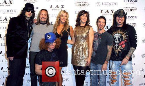 Criss Angel, Alicia Jacobs, Carrot Top, Las Vegas and Vince Neil