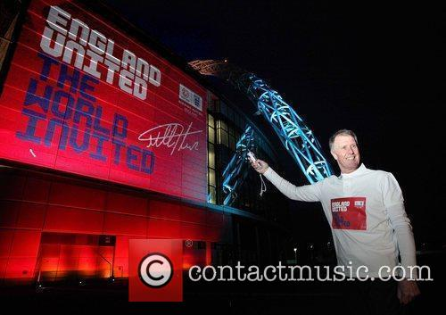 England footballing legend Sir Geoff Hurst signs a...
