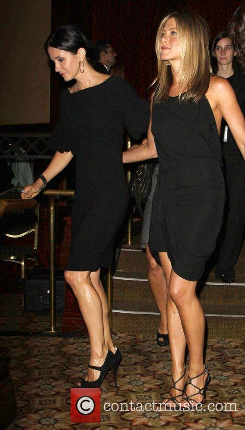 Courteney Cox-Arquette and Jennifer Aniston The 2010 Crystal...