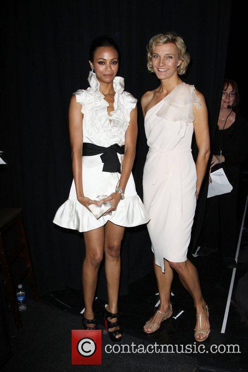 Zoe Saldana and Nicola Maramotti The 2010 Crystal...