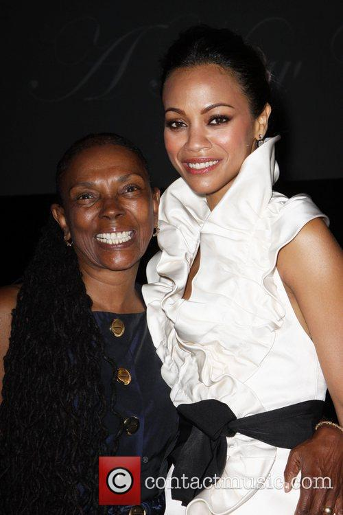 Zoe Saldana and guest The 2010 Crystal +...