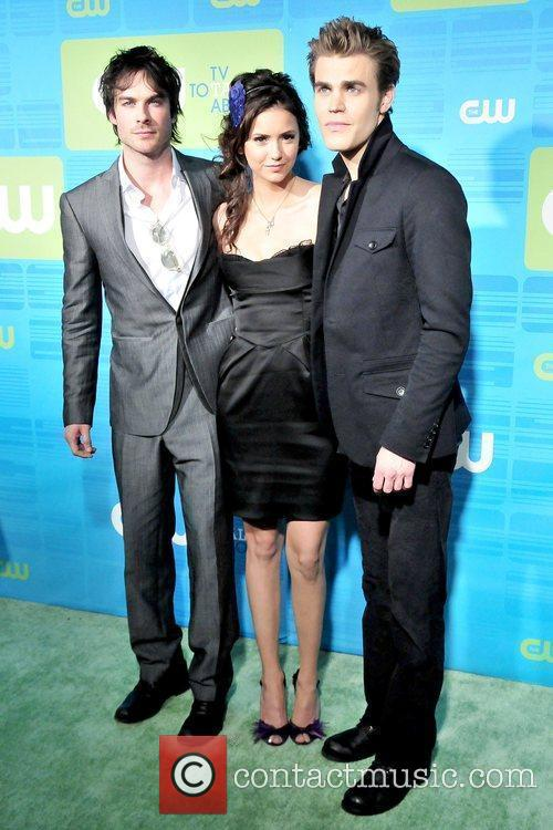 Ian Somerhalder, Nina Dobrev and Paul Wesley 2010...