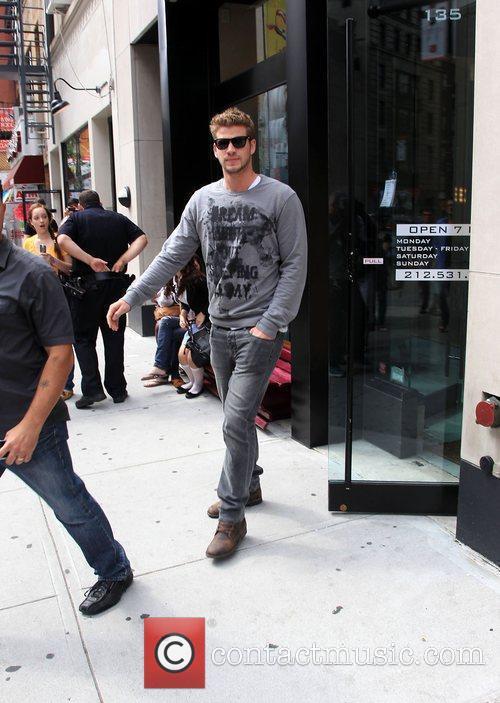 Liam Hemsworth leaving Gemini 14 hairdressers New York...