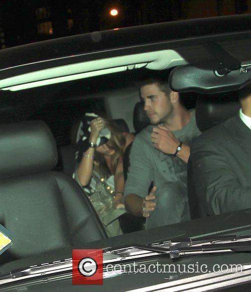 Miley Cyrus leaving Gemini 14 hairdressers New York...