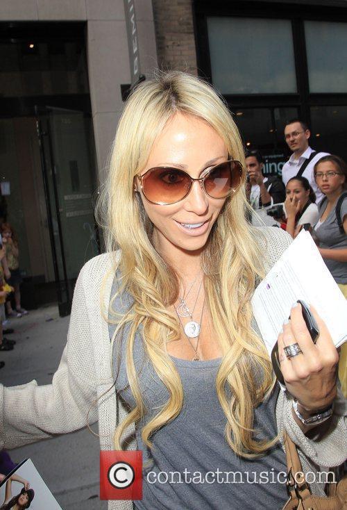 Tish Cyrus leaving Gemini 14 hairdressers New York...