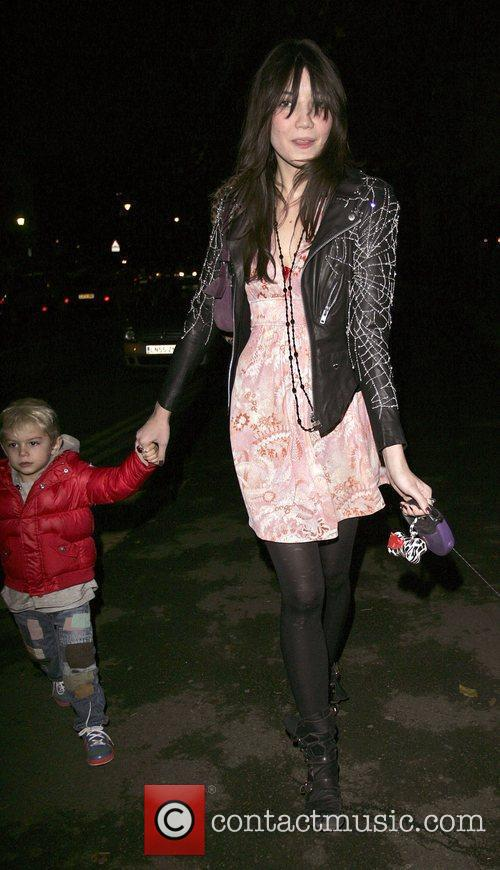 Daisy Lowe with her half brother Kingston takes...