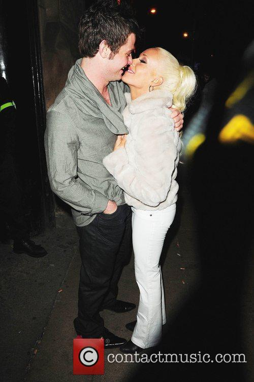 Danny Young and Brianne Delcourt Kieron Richardson's party...