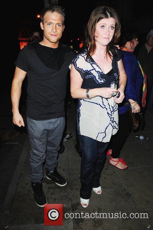 Chris Fountain and his mother Kieron Richardson's party...