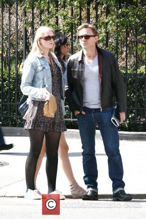 Daniel Craig and girlfriend Satsuki Mitchell enjoying the...