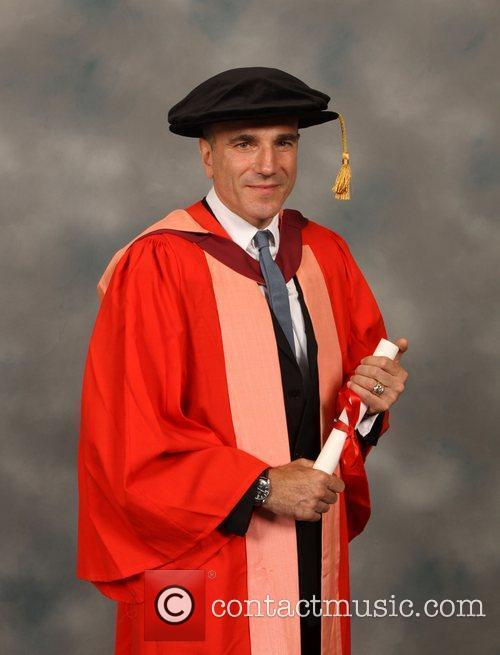 Daniel Day-Lewis  receiving an honorary degree of...