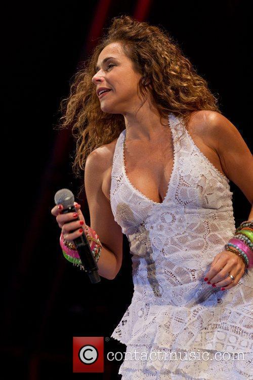Daniela Mercury performing live at Festival do Marisco...