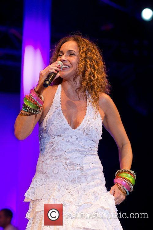 Daniela Mercury performing live at Festival do Marisco...