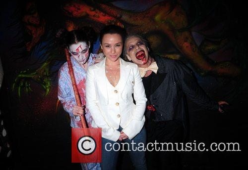 Danielle Harris attends the opening night of Blood...