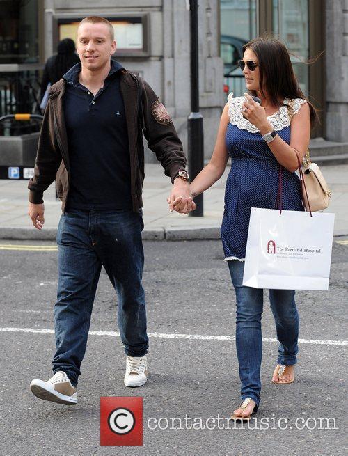 Pregnant Danielle Lloyd with her boyfriend Jamie O'Hara...