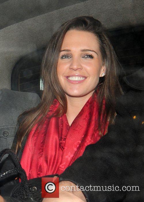Danielle Lloyd leaving Whisky Mist Club London, England