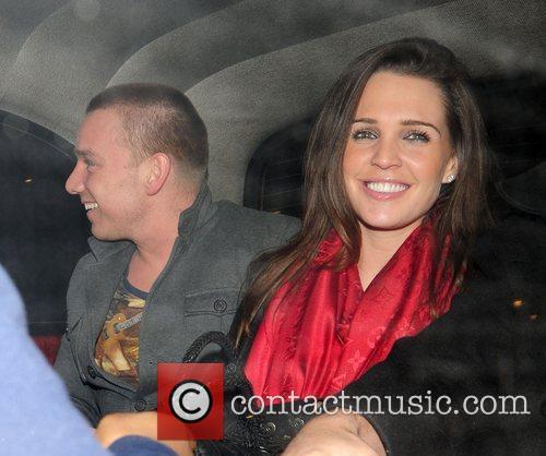 Danielle Lloyd and Jamie O'Hara leaving Whisky Mist...
