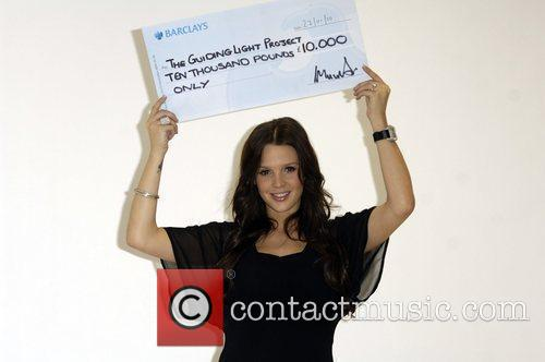 Donates her £10k winnings from Celebrity Total Wipeout...