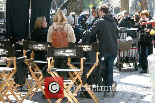 Abbie Cornish (L) on the film set for...