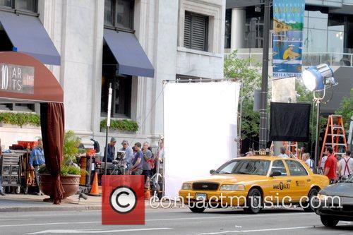 Film set of 'The Dark Fields' shooting on...