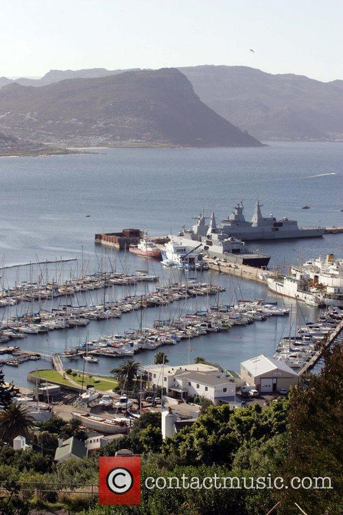 Aerial view of  Simon's Town Harbor. Capetown,...