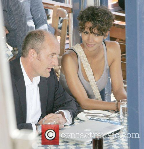 Halle Berry on the set of her new...