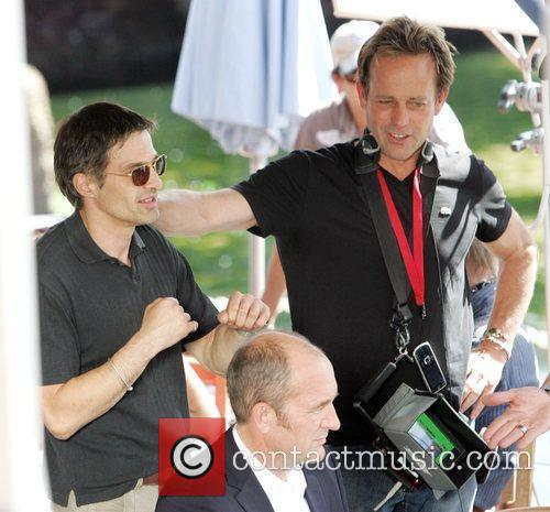 Olivier Martinez and John Stockwell on the set...