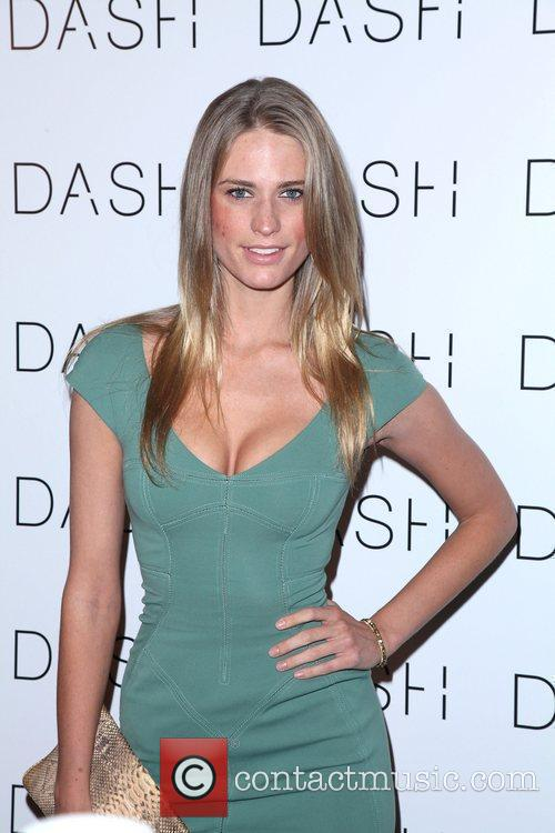 Model Julie Henderson the grand opening of Dash...