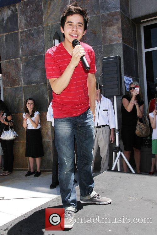 'American Idol' runner-up David Archuleta performs and signs...