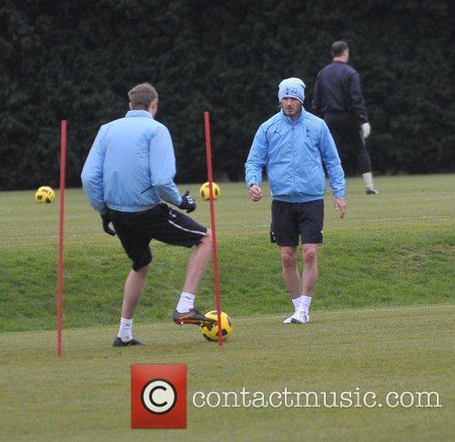 David Beckham and Peter Crouch 8