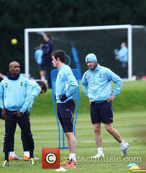 David Beckham, Gareth Bale and Jermain Defoe train...
