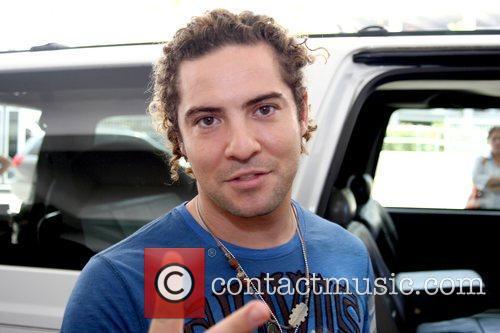 David Bisbal Spanish pop singer arriving at Luis...