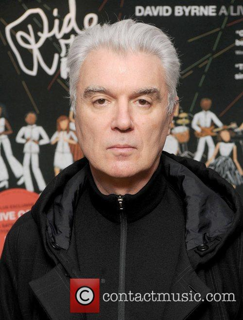 David Byrne arriving at the launch of Ride,...