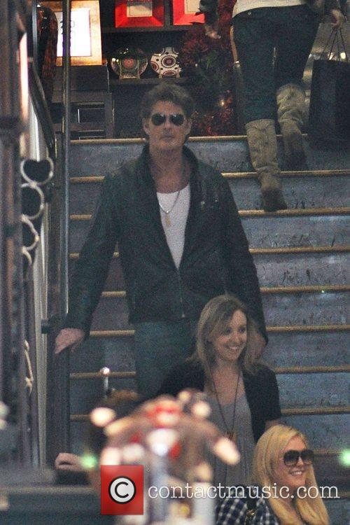 David Hasselhoff and daughter Hayley Hasselhoff shop at...