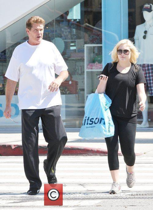 David Hasselhoff and daughter Hayley Hasselhoff shopping at...