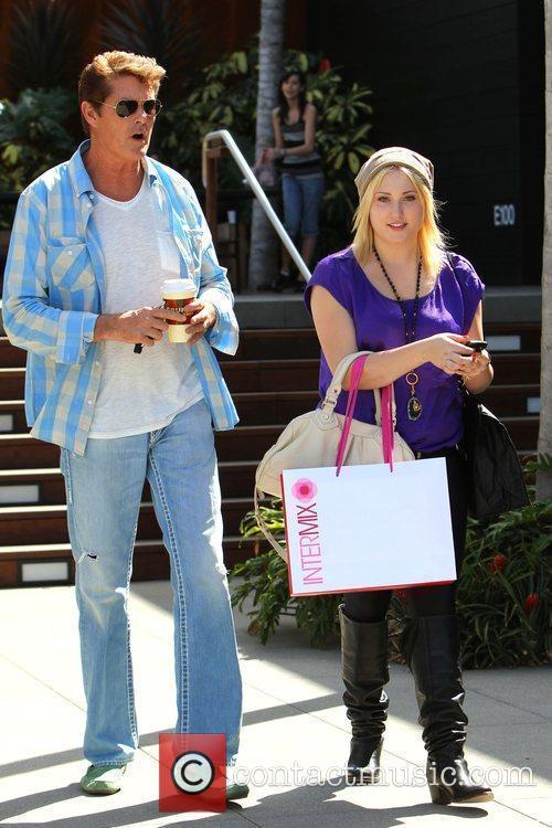 David Hasselhoff and daughter Hayley Amber return to...