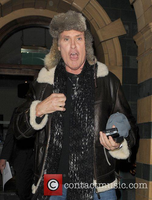 David Hasselhoff leaves his hotel at 11pm, heading...